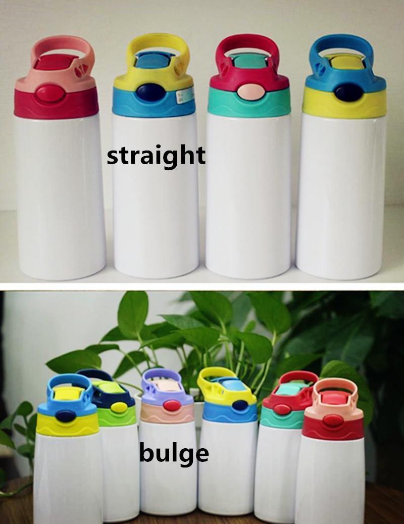 DIY التسامي 12oz watter زجاجة مستقيم بهلوان الفولاذ المقاوم للصدأ سيبي كوب 350 ملليلتر القش كؤوس نوعية جيدة للأطفال