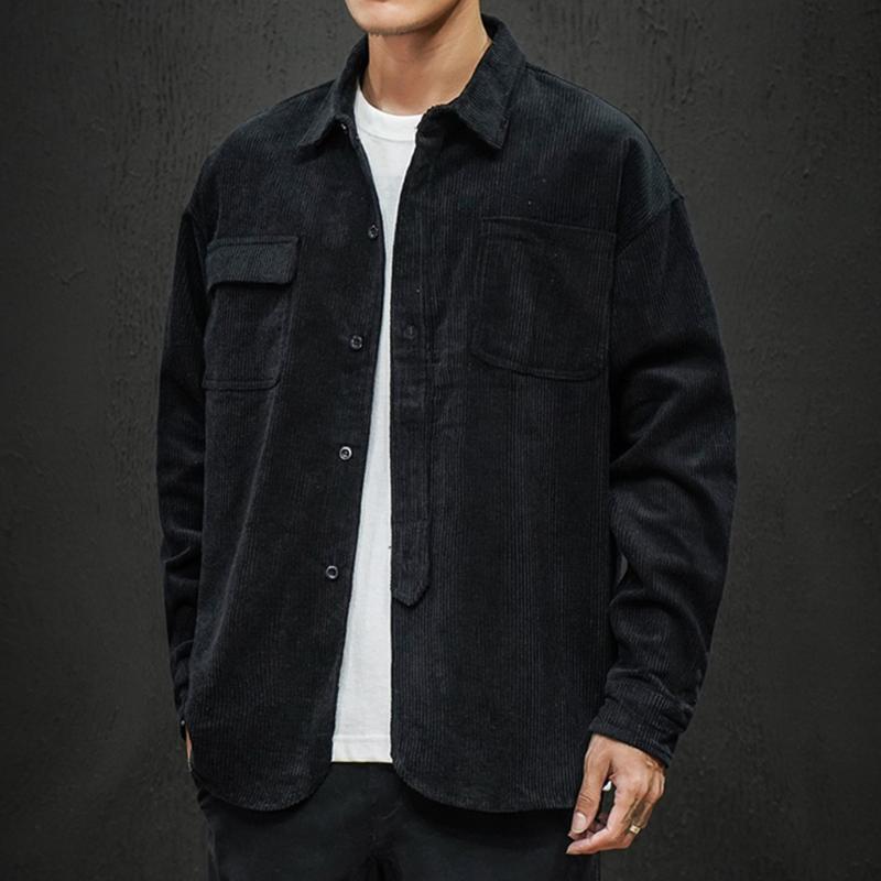 Mens Casual Casaco 2021 Nova Moda Masculina Elegante Camisa Jaquetas Casaco De Ferramentas Loose Fit Cuidados Streetwear