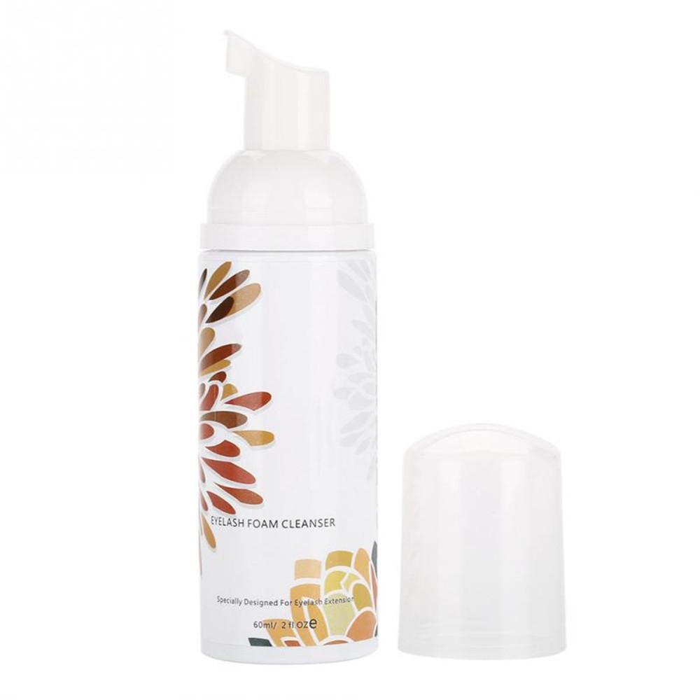 Eyelash Extension Cleanser Foam Shampoo 60ML Lash Cleanse Mousse Beauty Makeup Brush