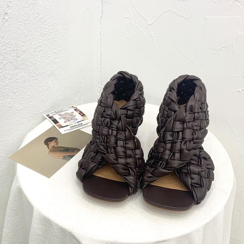 SANDALS LVBVRV2021 Зима 9см обувь на высоком каблуке, кожаная рука итальянская высококатающаяся женская мягкая овчина подкладка роскошной коробки