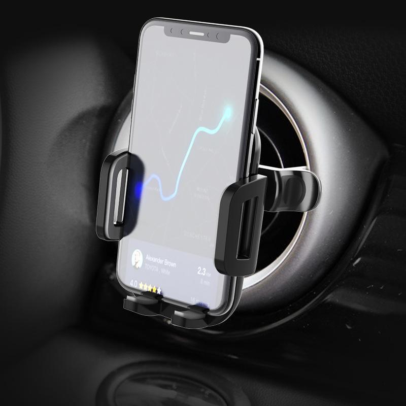 Новый круглый выпуск воздуха Специальный кронштейн подходит для Benz Audi Turbine Car Clip Mobile Phone Creative Gradeoavj