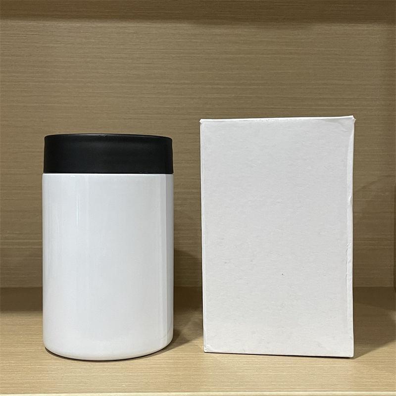 12oz sublimação pode cooler tumblers sem costura aço inoxidável manter frio frios refrigeradores térmicos transferência térmica copo de água isolamento garrafas de água A02