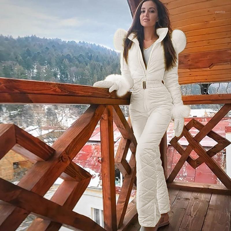 30 # mulheres um pedaço de esqui jumpsuit respirável casaco de snowboard esquiing calça conjuntos bodysuits outdoor neve ternos mulheres zíper esqui terno1