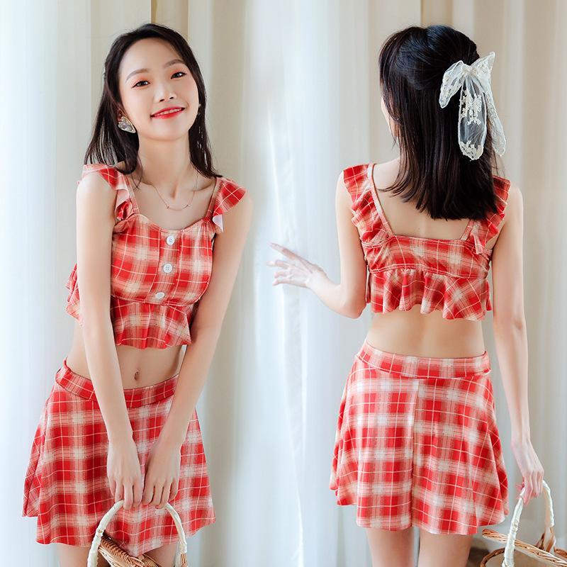 Sommer Mode Split Badeanzug Bikini Koreanische Version Sexy Slim Heißes Frühlingsschwimmanzug Baderock 2021