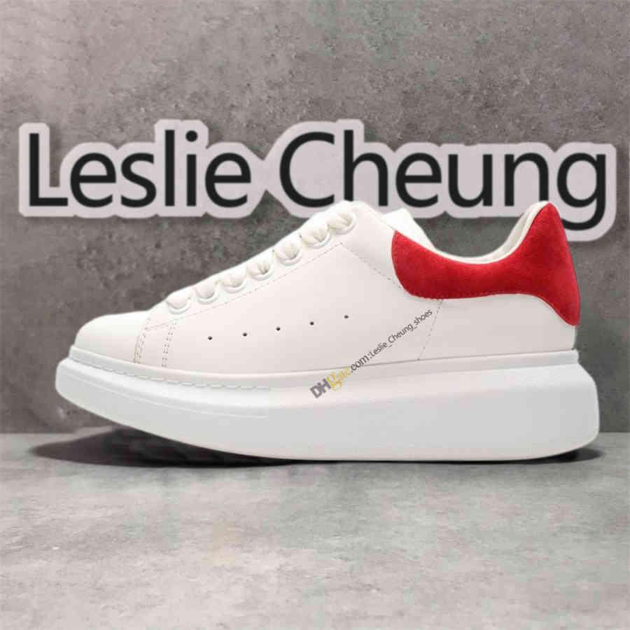McQueen Shoes 2021 جديد فتاة منصة بيضاء جلد أسود حزب عاكس أفضل شقة ثلاثية الزفاف الأعلى نعوي espadrilles المدربين الرياضة