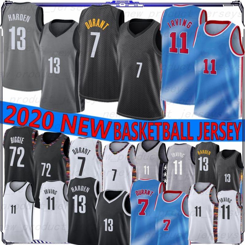 Brooklyn Nets 7 Kevin Durant Jerseys 11 Kyrie Irving Jersey Declaração Jerseys White City Jersey 72 Biggie Men the Basketball Jerseys Novo