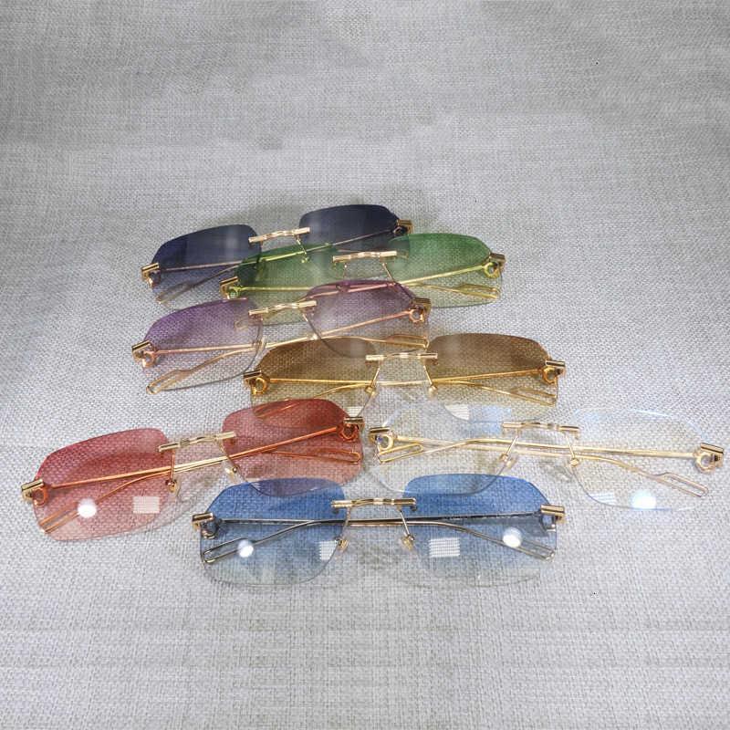 Kapalı% 70 Vintage Randloze Vierkante Zonnebril Mannen ulculos Nieuwe Lens Vorm Schaduw Metalen Çerçeve Temizle Leesbril Gafas Vrouwen Açık 1
