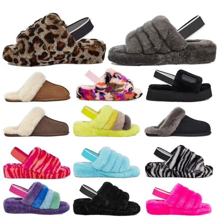 ugg uggs 2020 Neue Frauen Furry Hausschuhe Australien Säuglinge Flusen Yeah Slide Casual Schuhe Womens Luxus Sandalen Pelzgläubige Hausschuhe Größe 36-44 5SO5 #