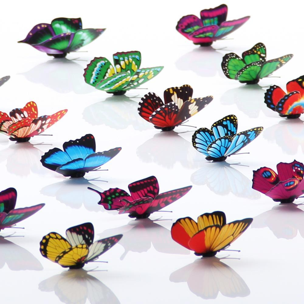 Cinderella butterfly 3d butterfly Fashion decoration wall stickers 3d butterfly pvc removable High Quality wall stickers LLS757