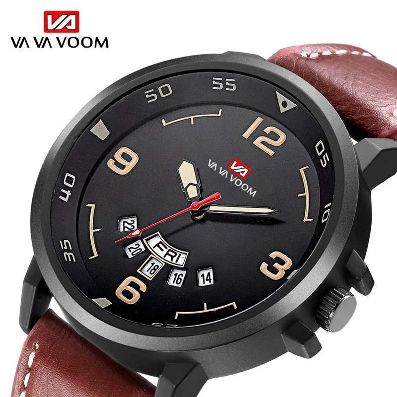 Armbanduhren Business Top Marke Uhr Männer Analog Luxus Militäruhren Quarz Herren Datum Lederband Sport Handgelenk Relogio Masculino