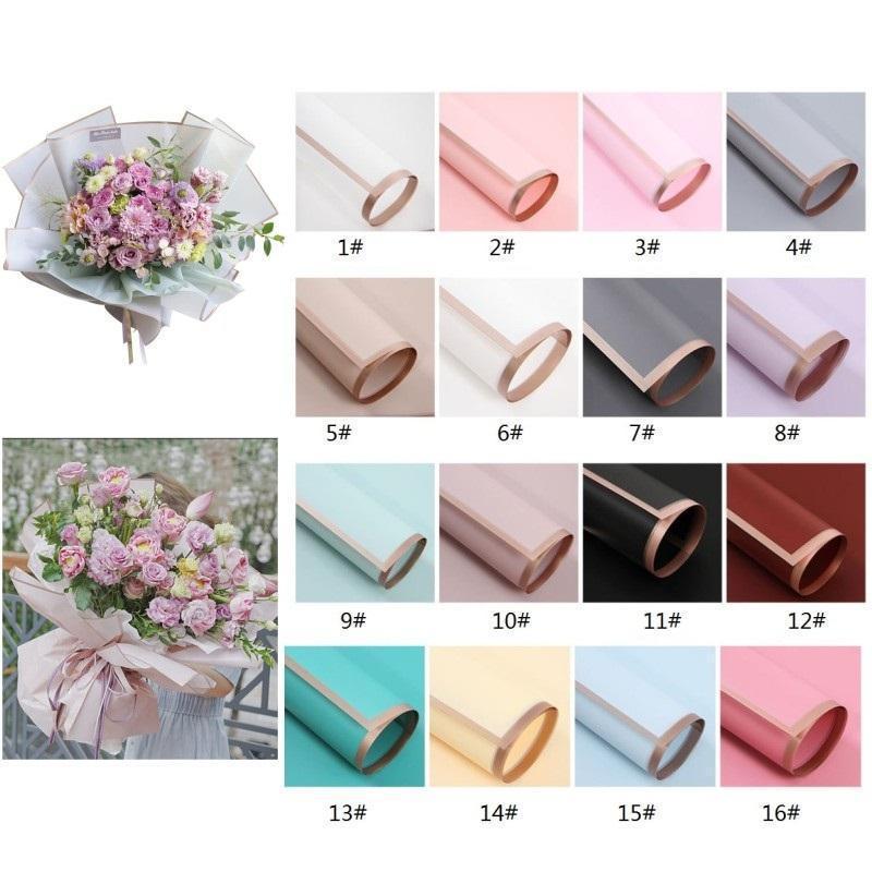 Blume Wickelpapier 20 teile / pack 60 * 60cm Weihnachten Hochzeit Valentinstag Geschenk Wasserdichte Bronzing Blume Geschenk Geschenk Papier FY