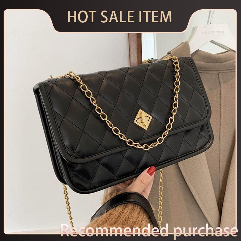 Ombro acolchoado para clássico iobvv crossbody pequeno mensageiro 2021 mulheres na moda diamante novo saco de lattice cadeia sacos bolsa quadrado bolsa de quadrado tavw