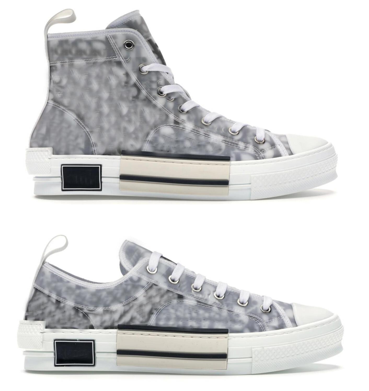 2021 أصيلة b23 عالية أعلى أحذية رياضية منحرف أحذية الرجال النساء مصمم في الهواء الطلق عارضة خطابات شفافة منخفضة المدربين قماش مع المربع الأصلي 36-46