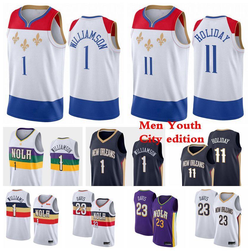"""Yeni Orleans """"Pelikanlar"""" Basketbol Forması 2 Top Brandon 14 Ingram 11 Tatil 23 Davis Zion 1 Williamson Formalar 2021 Erkekler Çocuklar Gençlik"""