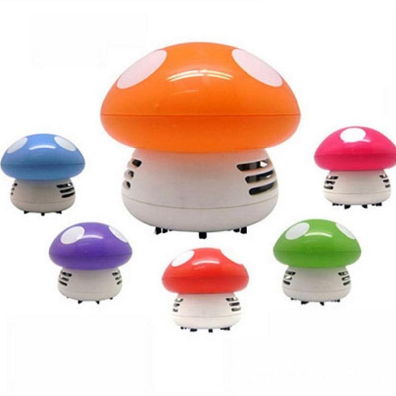 مكنسة كهربائية مصغرة 6 ألوان لطيف الفطر الزاوية مكتب الجدول الغبار للسيارة المنزل الكمبيوتر كاسحة