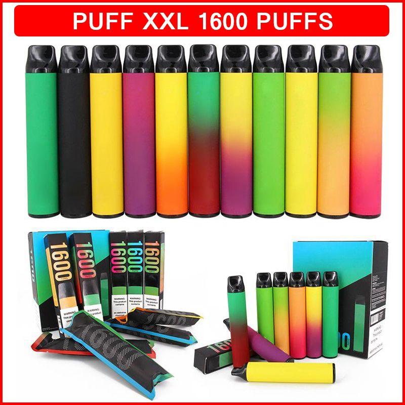 퍼프 XXL 일회용 담배 vape 1600 퍼프 650mAh 4ml 포드 기화기 유효한 코드 e cig ecigarette가있는 Puffbar vapes