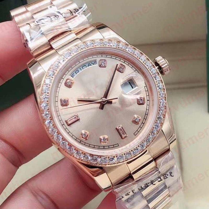 36 mm moda rosa oro hombre automático mecánico pulsera pulsera diseño mujer mujer reloj reloj reloj relojes de pulsera 2021