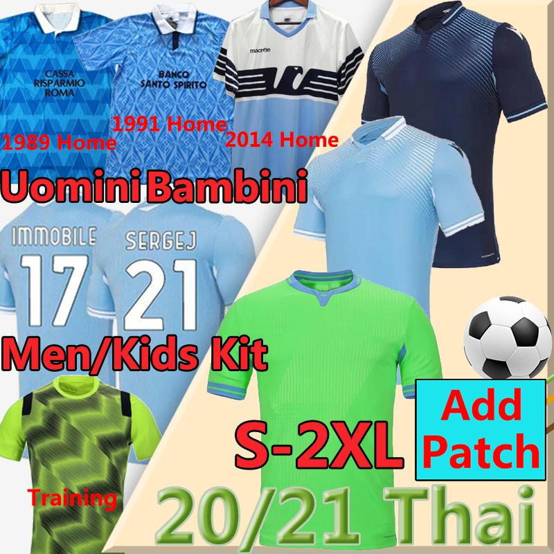 2020 21 Lazio Biancocelesti Fußball 120th Jerseys Luis Alberto Immobile Sergej vestiti da Calcio 1989 91 2014 Männer Kinder Retro Football Hemd