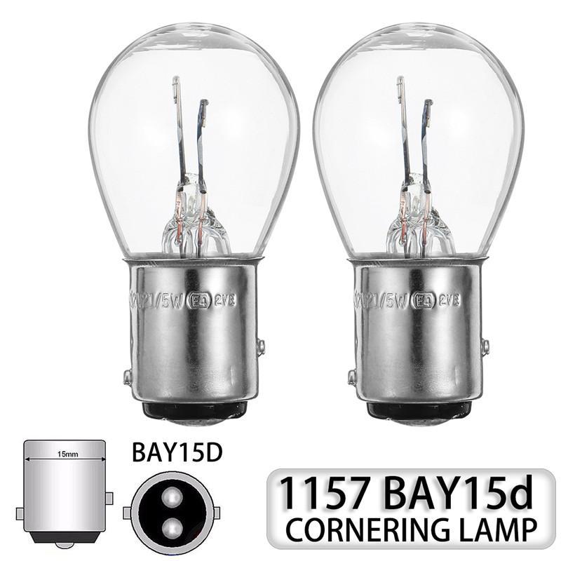 10 шт. 1157 Bay15D светодиодный поворот Сингл легкий автомобиль лодка обратный тормозной резервный ламп задний фонарь задний свет прозрачный лампочку DC12V