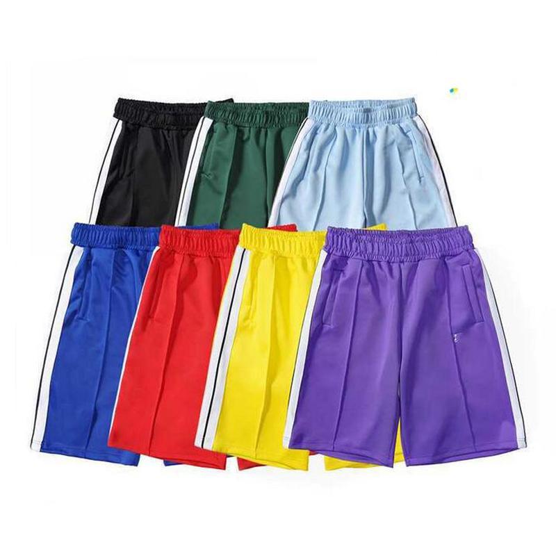 2021 Yeni Varış Palm Baskılı Tasarımcı Rahat Kısa Pantolon Erkekler Kadınlar İlkbahar Yaz Yoga Jogger Spor PA Plaj Pantolon Spor Giyim