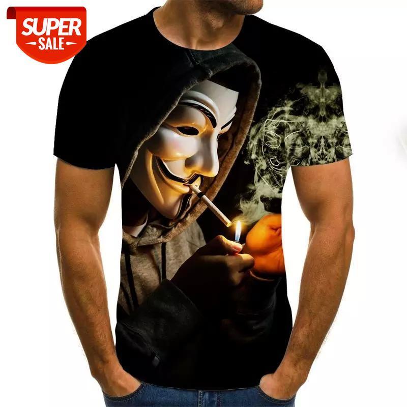Diseñador de lujo de lujo nueva letra de moda 3d camiseta camiseta hombres manga casual hombre / mujer casual camiseta tops xxs-6xl # nu2p