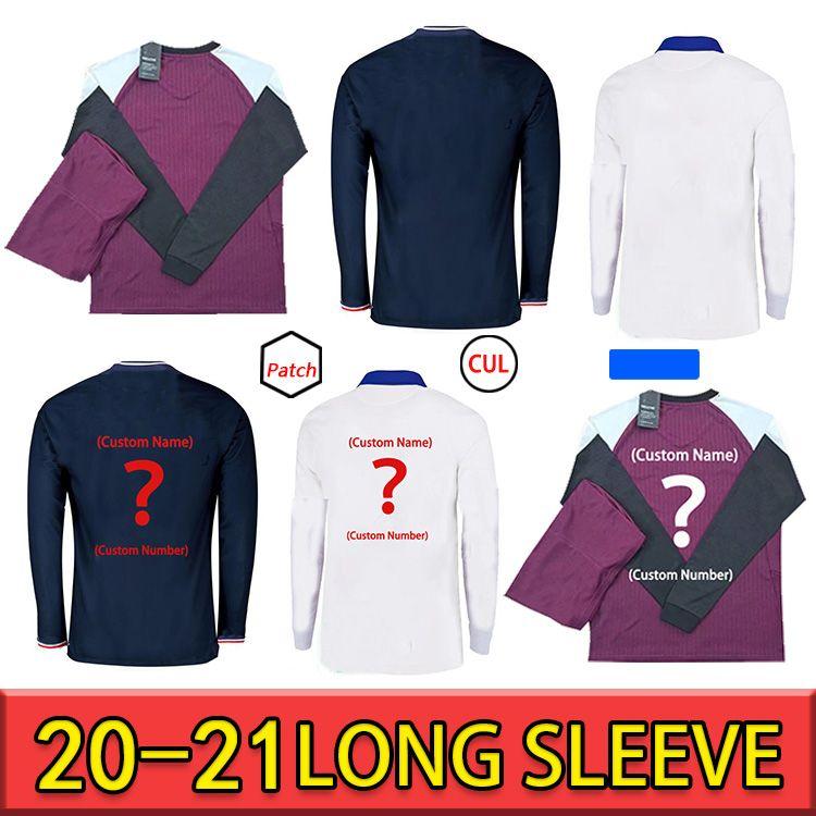 20 21 manga longa Jersey Jersey Mbappe Verratti 2020 2021 Marquinhos Kimpembe di Maria Kean Football Jersey Soccer Camisa