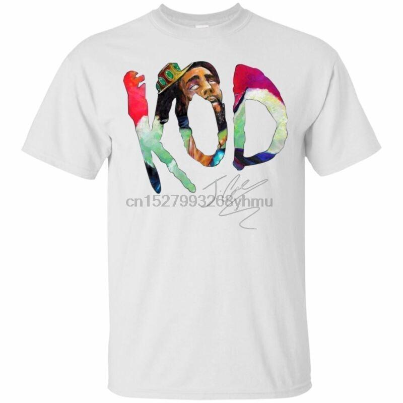T-shirt da uomo J. Cole Kod T-Shirt Dreamville Hip Hop Rap Musica Giovane Thug Tour Bianco 2021 5XL