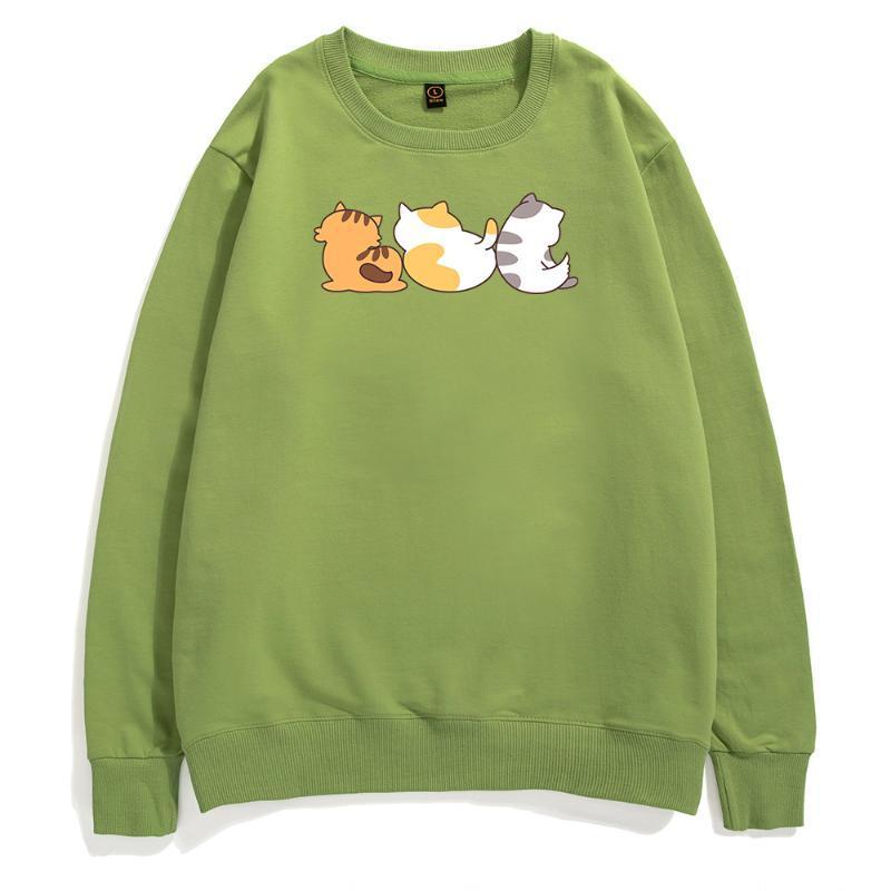 الرجال هوديس بلوزات kawaii الكرتون القط هوديي الذكور الأزياء عارضة الملابس لطيف القطط البلوز الهيب هوب مضحك الشارع الشهير القطن فينتا