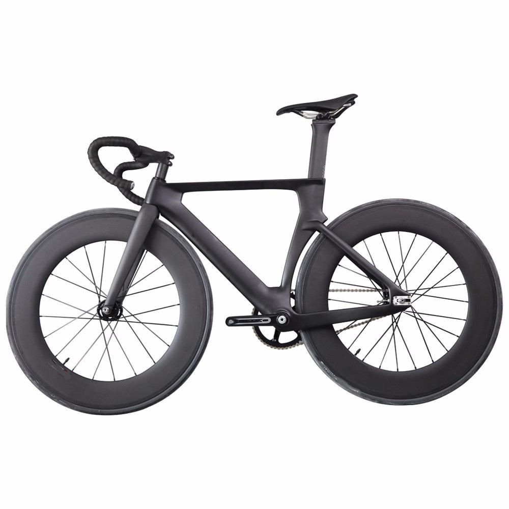 2021 ICAN Professional Carbon Piste Complete Bike UD Matte Track Fork Fork Simple Vitesse Vélo Vélo Vélo de vélo