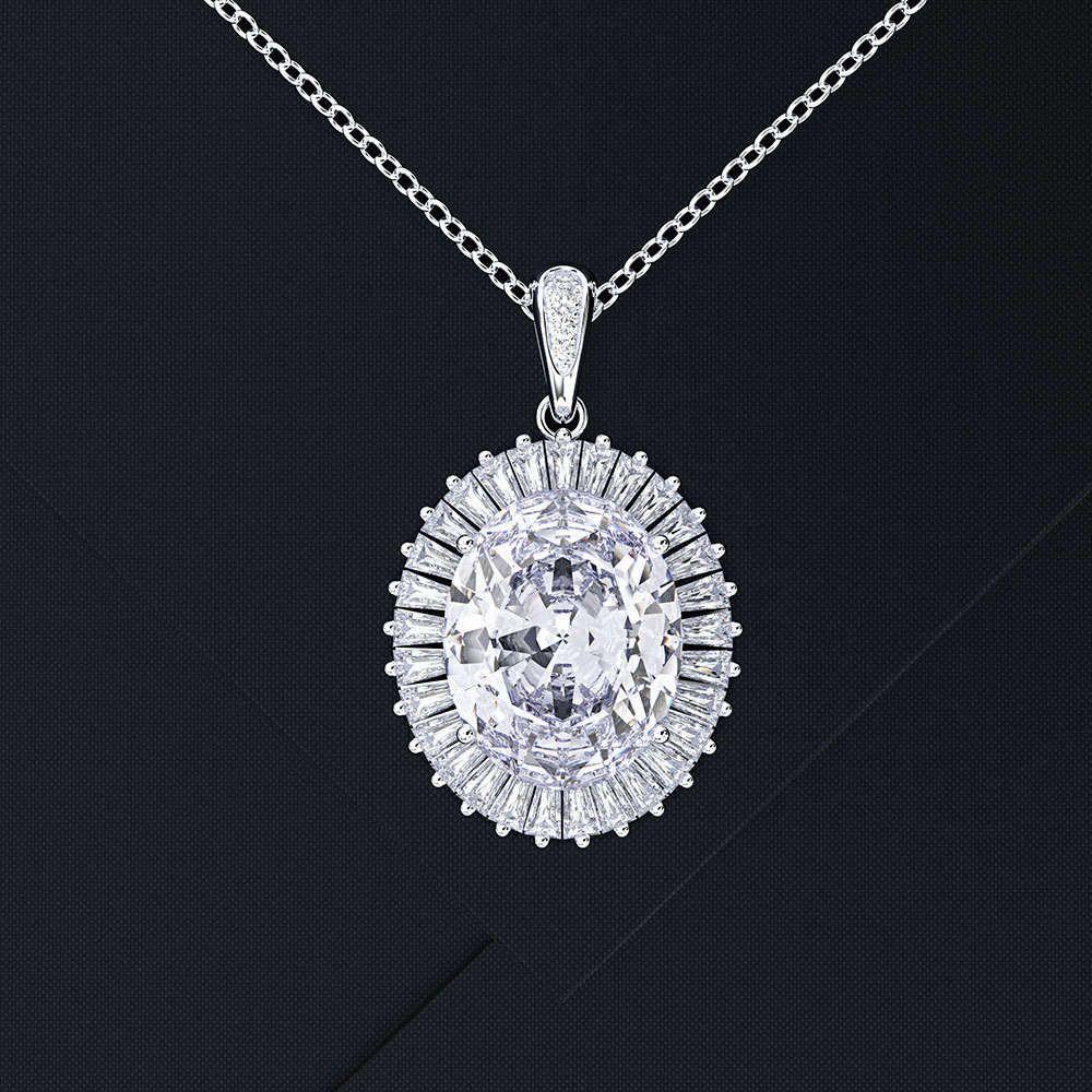 HBP Fashion Shi Pei Square Diamantlicht Luxus Stil Natürliche Topas Meer Blaue Ohrringe Anhänger Halskette Set