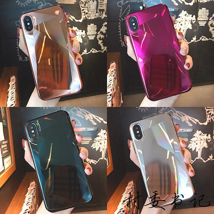 드롭 증명 TPU 미러 전화 케이스 전기 도금 백 커버 특별한 모양의 소프트 케이스 아이폰 7 8plus xr x max 11 12 프로