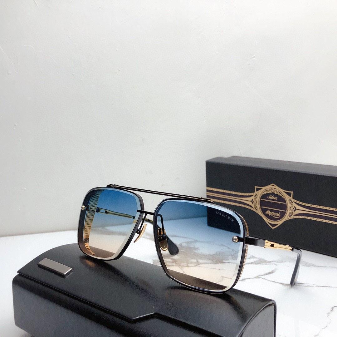 Un DITA MACH SEIS TOP Top Luxury Gafas de sol de diseño de alta calidad para hombres Mujeres UV Nuevo Venta Mundial Famosa Mostrar Mostrar Gafas de sol italianas Eye Glass Exclusive Store