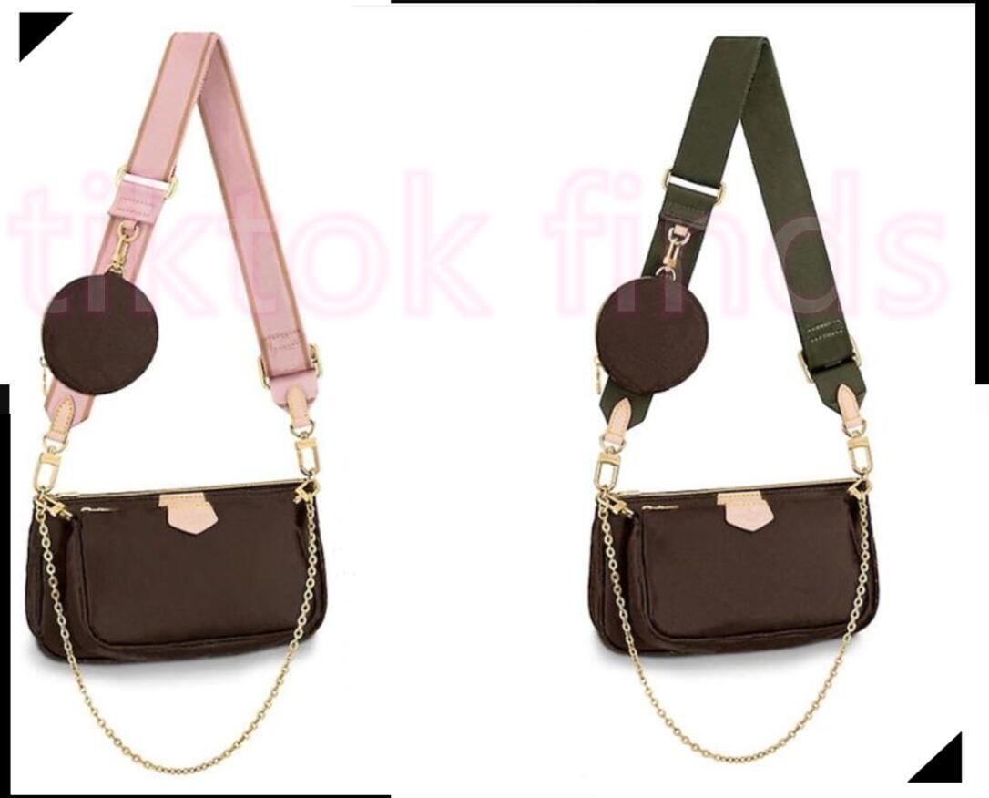 الفضلات المرأة حقيبة متعددة الألوان الأشرطة crossbody النسائية حقيبة 3 أجزاء مجموعة أكياس الكتف المفضلة جولة رسول المرأة