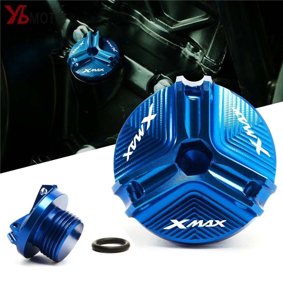 Accesorios de motocicleta Motor de aceite FILLADOR DE ACEPE DE EXTRANJERO CUBIERTA DE TUMP DE TUMP PARA YAMAHA XMAX 250 300 XMAX300 XMAX250 x MAX 2017-2020