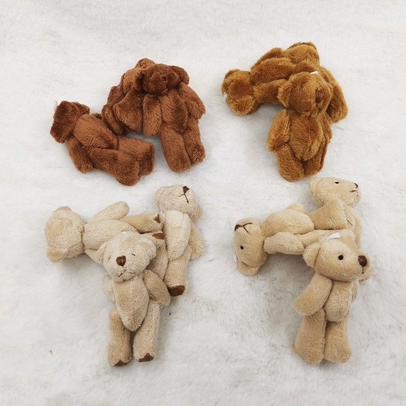 20 unids 6 cm oso borroso oso de punta de cuero peluche peluche juguetes color marrón Q0113