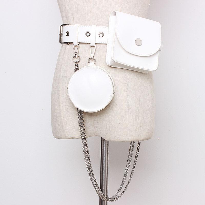 2021 nouvelle taille de la ceinture de ceinture pour femmes téléphone Poche PU Cuir Pochette Pochette Fanny Packs Femme Femelle Robe Ceinture Ceinture Taille de taille