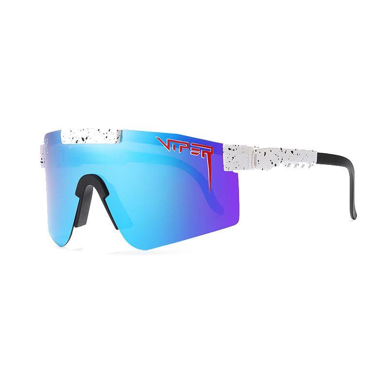 2021 Rose Gafas de sol de gran tamaño Polarizadas Espaciedon en Espalidad TR90 Frame UV400 Protection Men Sport Pit and Viper