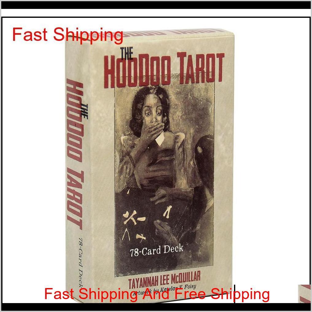 The Hoodoo Tarot Tradition 78-Tarjeta Deck y E-Guía Guía para tarjetas Oracle Muse Waite Tablero juego Juguete Divinación Angel Tarjetas de Tarot Sykv5 Lnwxo