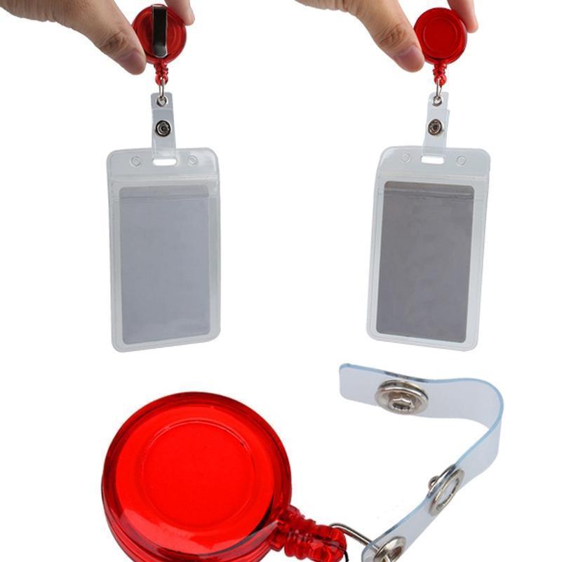 1 PC rétractable pack de ski carte d'identité badge porte-clé Pull Tag Key Card Titulaires de la carte de bureau de l'école Rand QYLMHK