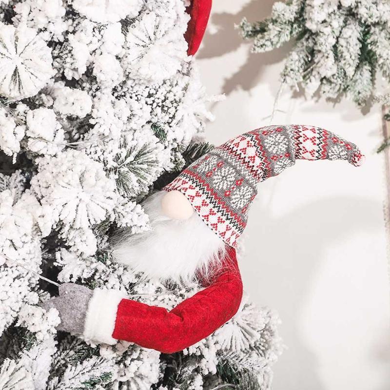 Marcos Navidad Sueco Tomte Tomta Cortina Hebilla Santa Sujetador Hebillas Peluche Gnome Muñeca Árbol de Navidad Topper para ventana Dota de fiesta