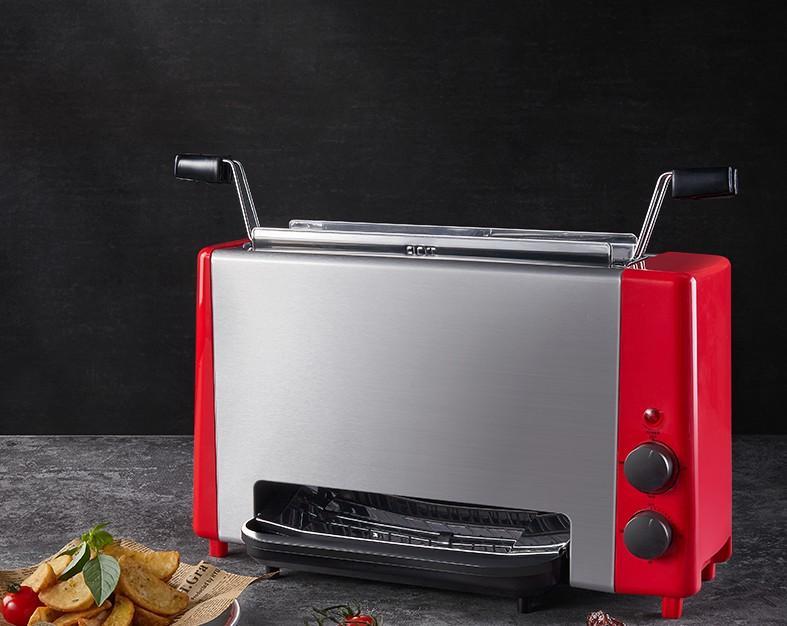 Garbecue électrique Vertical sans fumée Barbecue Barbecue ménagère Cuisinière Multi-fonction Four Steak Machine Table BBQ Toaster 041
