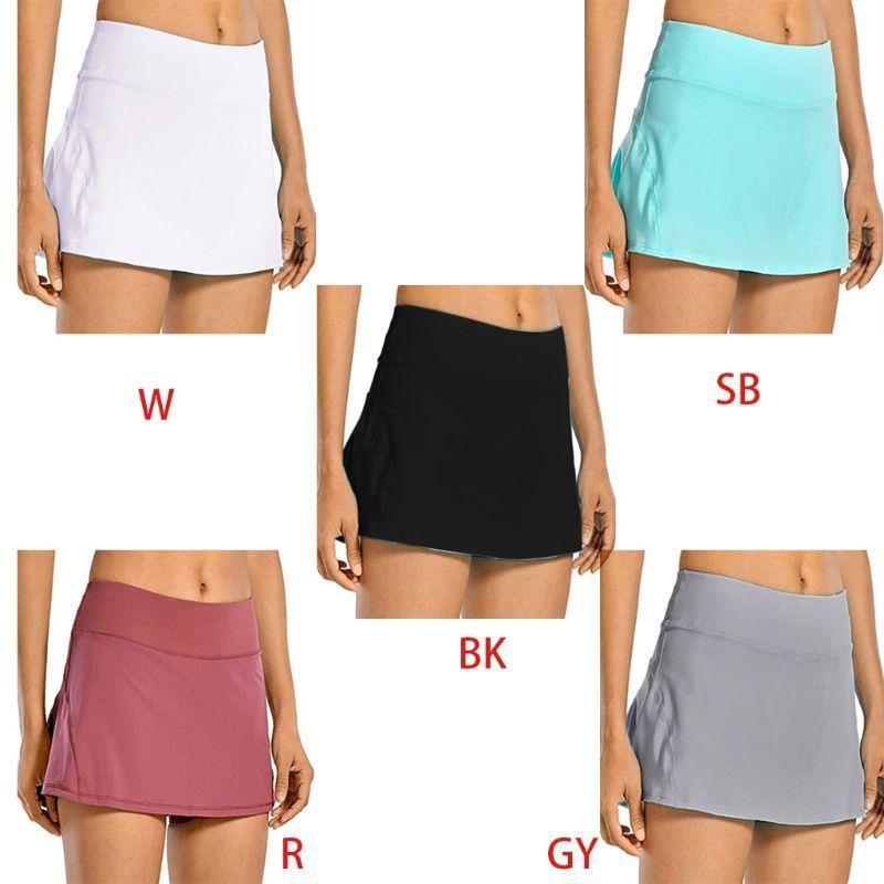 Women 2-In-1 Tennis Skorts Athletic Sports Running Pleated Golf Skirts Shorts M89E Q0131