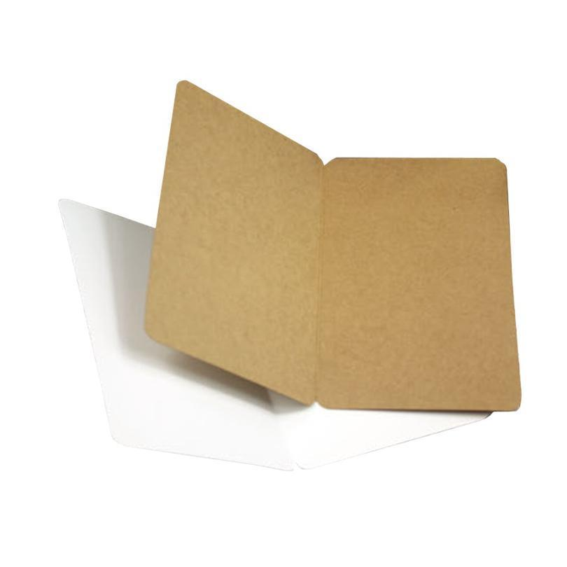 10 pçs / lote em branco cartão postal dobrável três seleção papel kraft cartão cartão de presente 10 pcs / l jllsqx