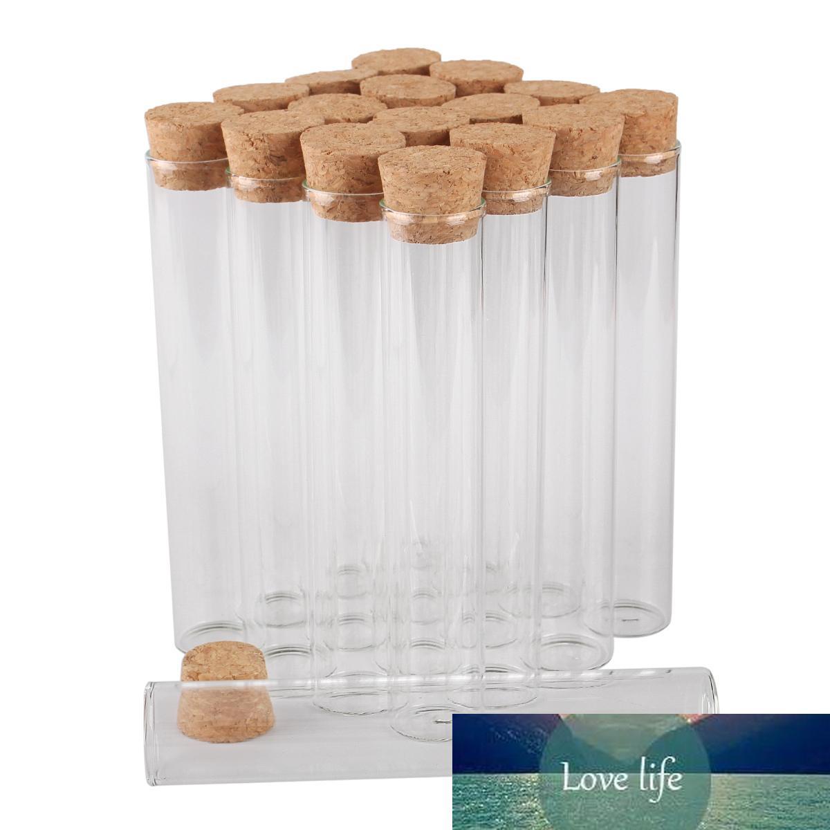 Vente en gros 48 pièces 34ml 22 * 120mm Tubes à essai avec bouchon en liège Bottes en verre Vials de verre Tiny bouteilles en verre pour accessoires de bricolage artisanat