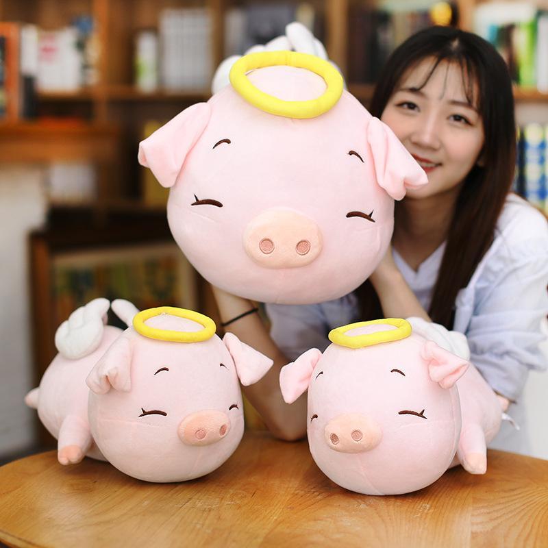Творческий мультфильм ангел свинья подушка свинья кукла свинья кукла плюшевая игрушка Papa подарок девушка
