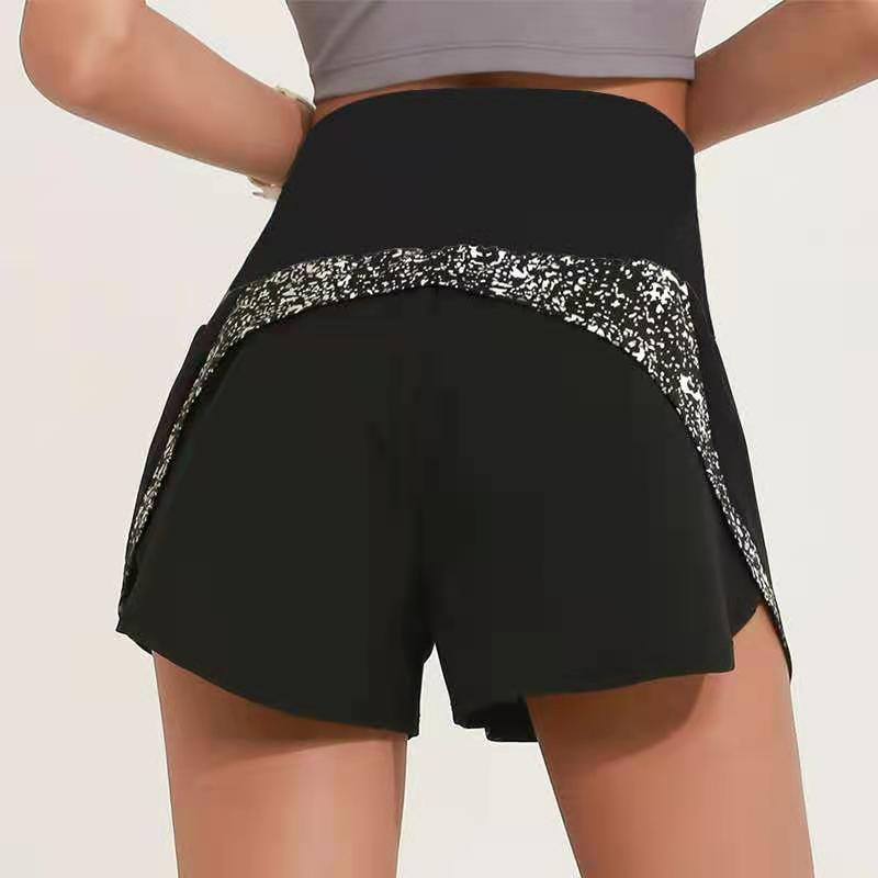 Pantaloni da donna LU-96 Pantaloni da yoga Fitness Esercizio in corso vacanza Due pezzi di allenamento Tempo libero Anti Light Shorts 999