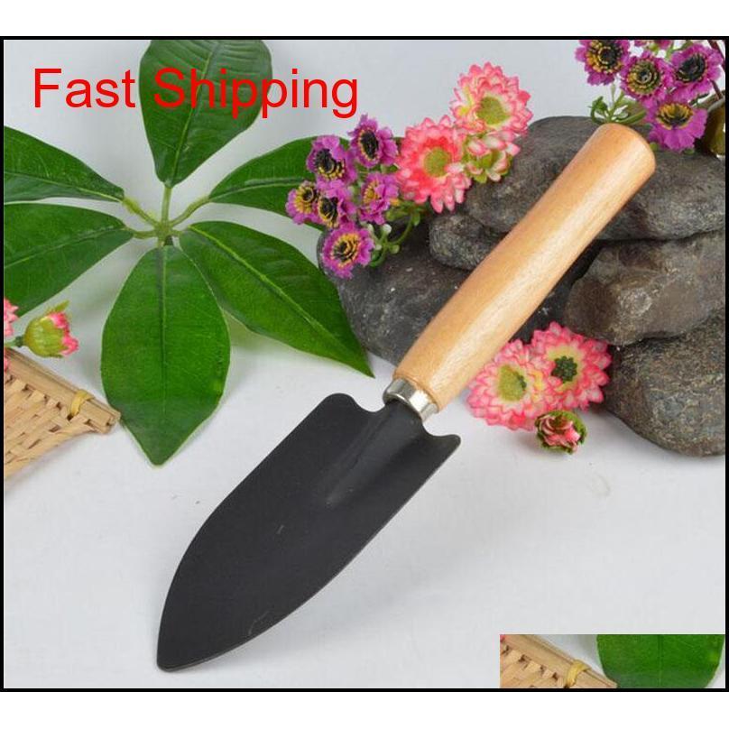 3 teile / satz Mini Sharp Shovel Rechen Holzgriff Eisen Kopf Pflanze Werkzeug Set Verstärkte Gartenarbeit Runde Mini Ga Qylotq Toys2010