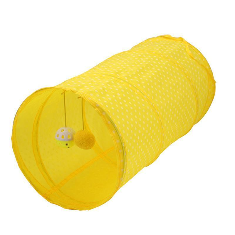 Cat Toys Funny Pet Tunnel 2 Holes Play Tubes Balls Collapsible Crinkle Kitten Dog Puppy Ferrets