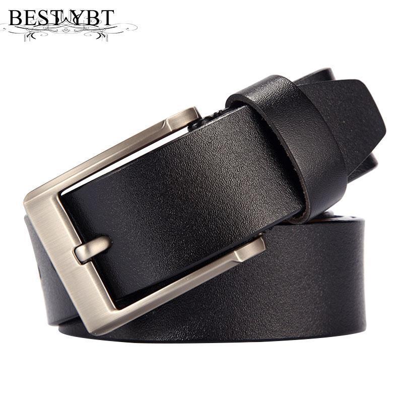 Mejor ybt hombres cinturón tendencia retro de alta calidad imitación de cuero aleación pin hebilla cinturón sólido color negocio asuntos de negocios hombres casual