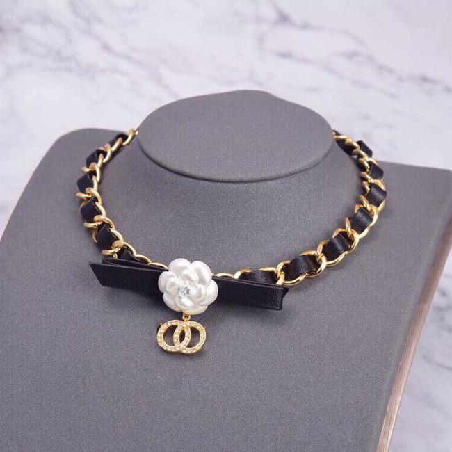 Xiaoxiangshan Camellia лук ожерелье щедрый дизайн простой личности сладкий прекрасный кожаный веревка браслет2